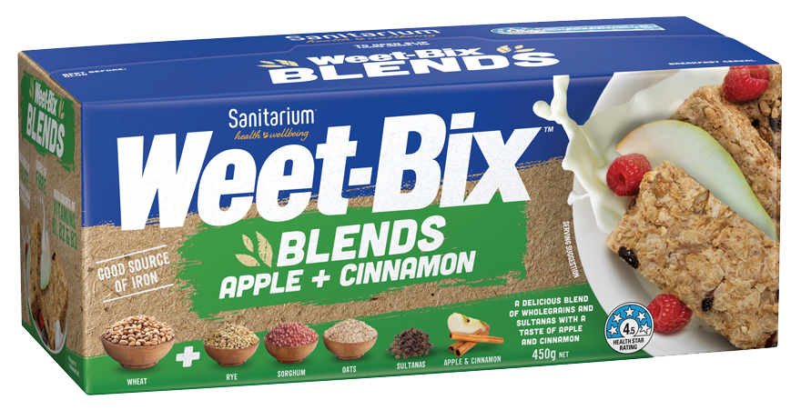 Weet-Bix Blends Apple + Cinnamon