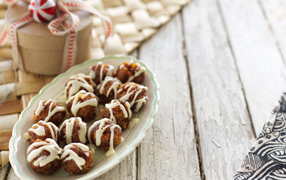 Gluten free apricot and cranberry truffles