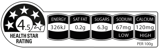 Up & Go Choc Ice flavour has 4.5 out of 5 health stars