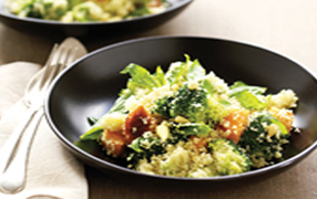 Broccoli and sweet potato couscous