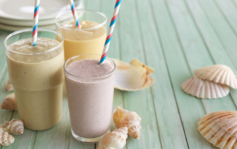 Peach and honey smoothie