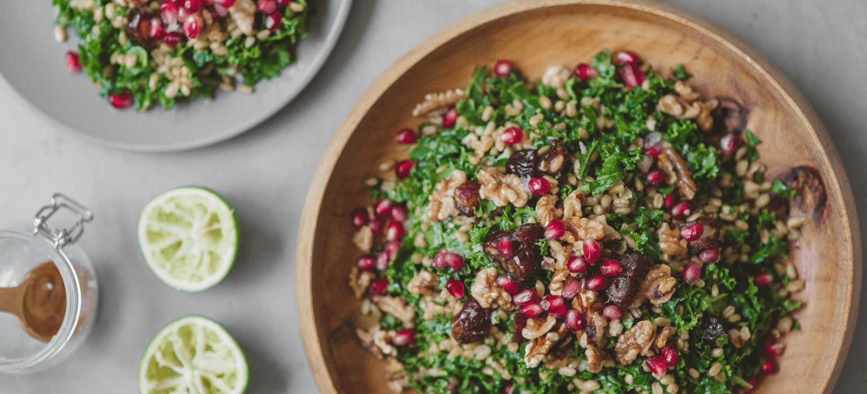 Middle Eastern farro salad