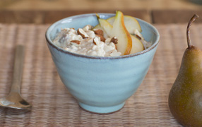 Pear and Weet-Bix bircher