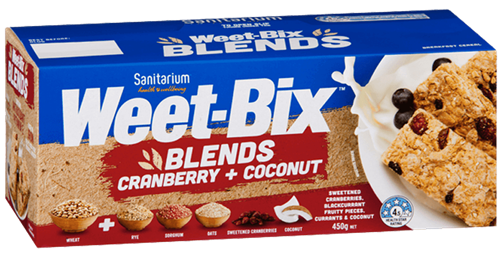 Weet-Bix Blends Cranberry & Coconut