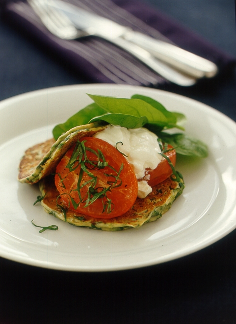 Spinach and ricotta hotcakes