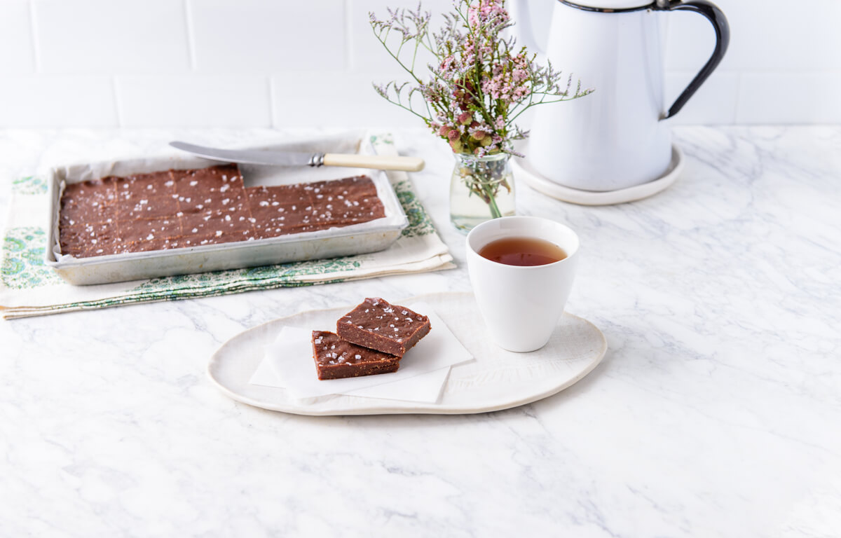 the fit foodie's raw salted choc fudge