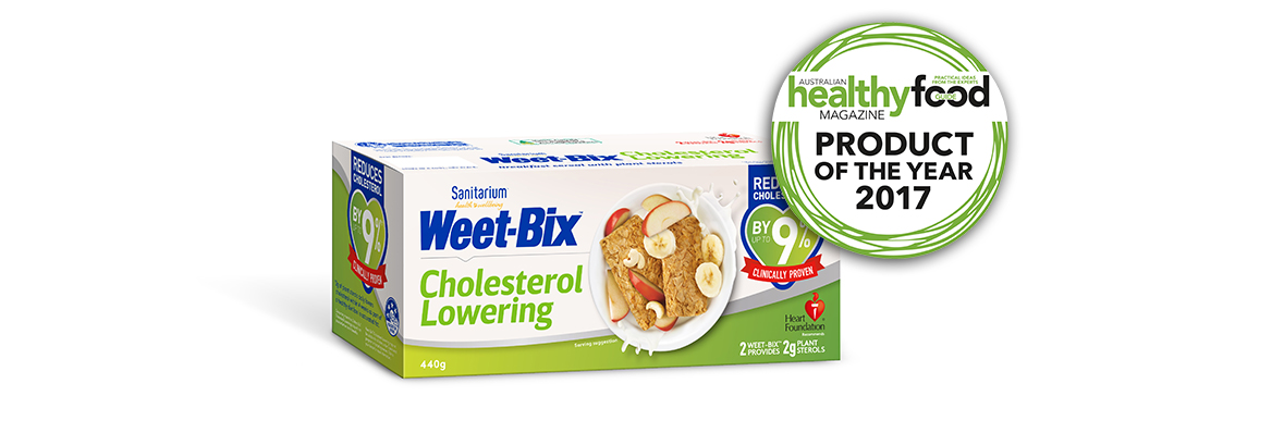 Weet-Bix Cholesterol Lowering wins Product of the Year