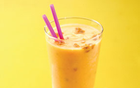 Peach and passionfruit shake