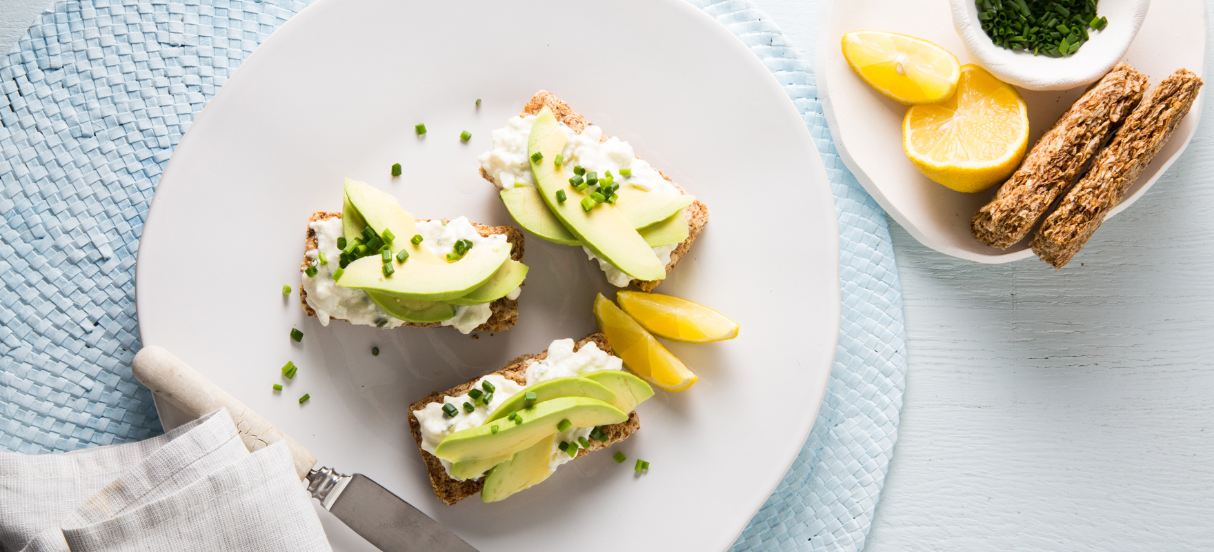 Avocado and cottage cheese on Weet-Bix™