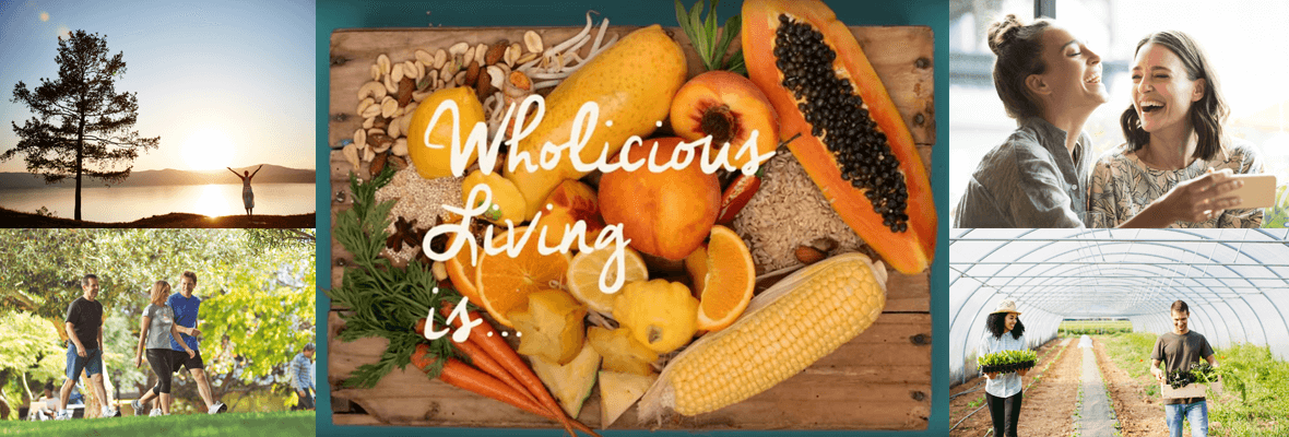 Wholicious living - welcome to a happier healthier you banner