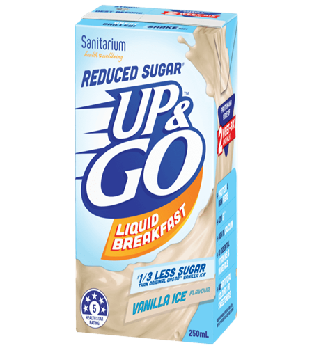UP&GO Reduced Sugar# Vanilla Ice Flavour