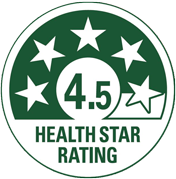 Naturally Nood Apple Rumble Health Star Rating