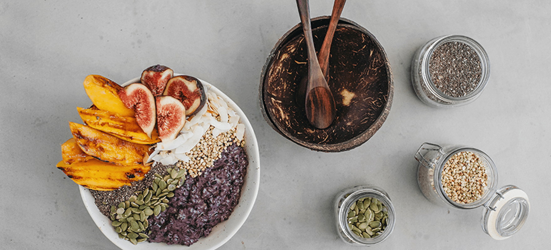 Coconut black rice summer porridge