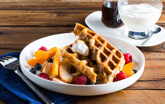 Weet-Bix™ waffles with fresh fruit
