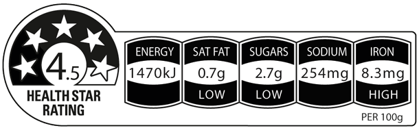 Weet-Bix Cholesterol Lowering has a Health Star Rating of 4.5 out of 5